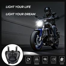 KEMiMOTO For YAMAHA MT07 Headlight MT 07 LED Lamp DRL FZ07 2014 2015 2016 2017 Motorcycle Headlight MT07 110W 12V