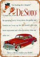 metal tin sign vintage style de soto decor bar pub home vintage retro poster