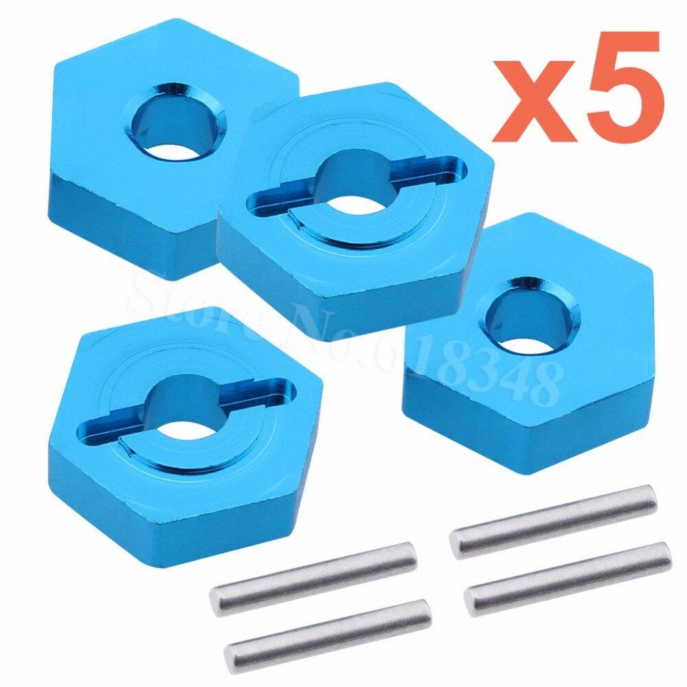 5 Sets Aluminium 12mm Rad Hex hubs Für Traxxas 1/16 Slash 4WD E-Revo/VXL Summit VXL RC Auto Hop Up Teile 7154X