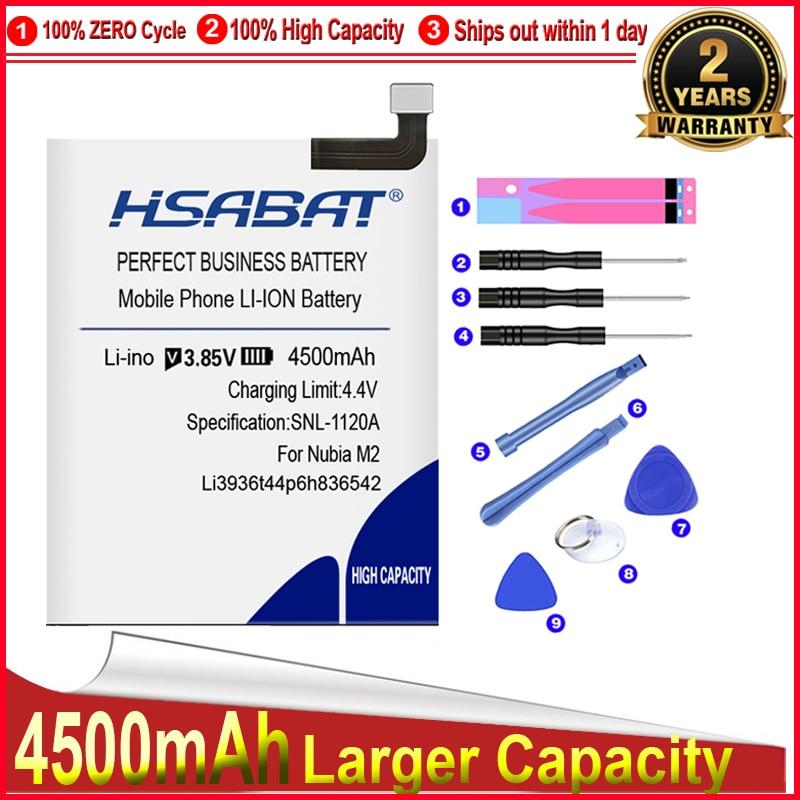 HSABAT 0 Cycle 4500mAh Battery for ZTE Nubia M2 NX551J Nubia M2 Dual SIM, Nubia M2 Dual SIM TD-LTE Replacement Accumulator