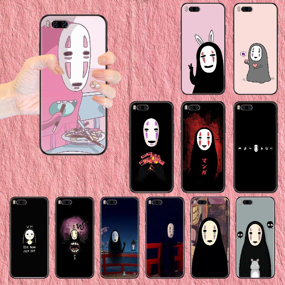 Spirited Away No Face man Phone case For Xiaomi Mi Max Note 3 A2 A3 8 9 9T 10 Lite Pro Ultra black s