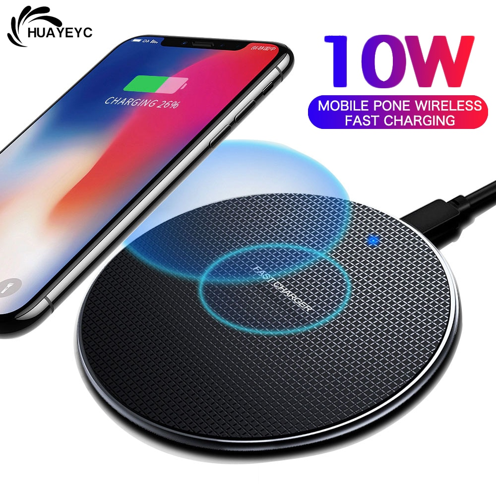 10W Qi Fast Wireless Charger For iPhone 11 12 Max X XS XR 8 Plus For Xiaomi Huawei Samsung Note 9 S1