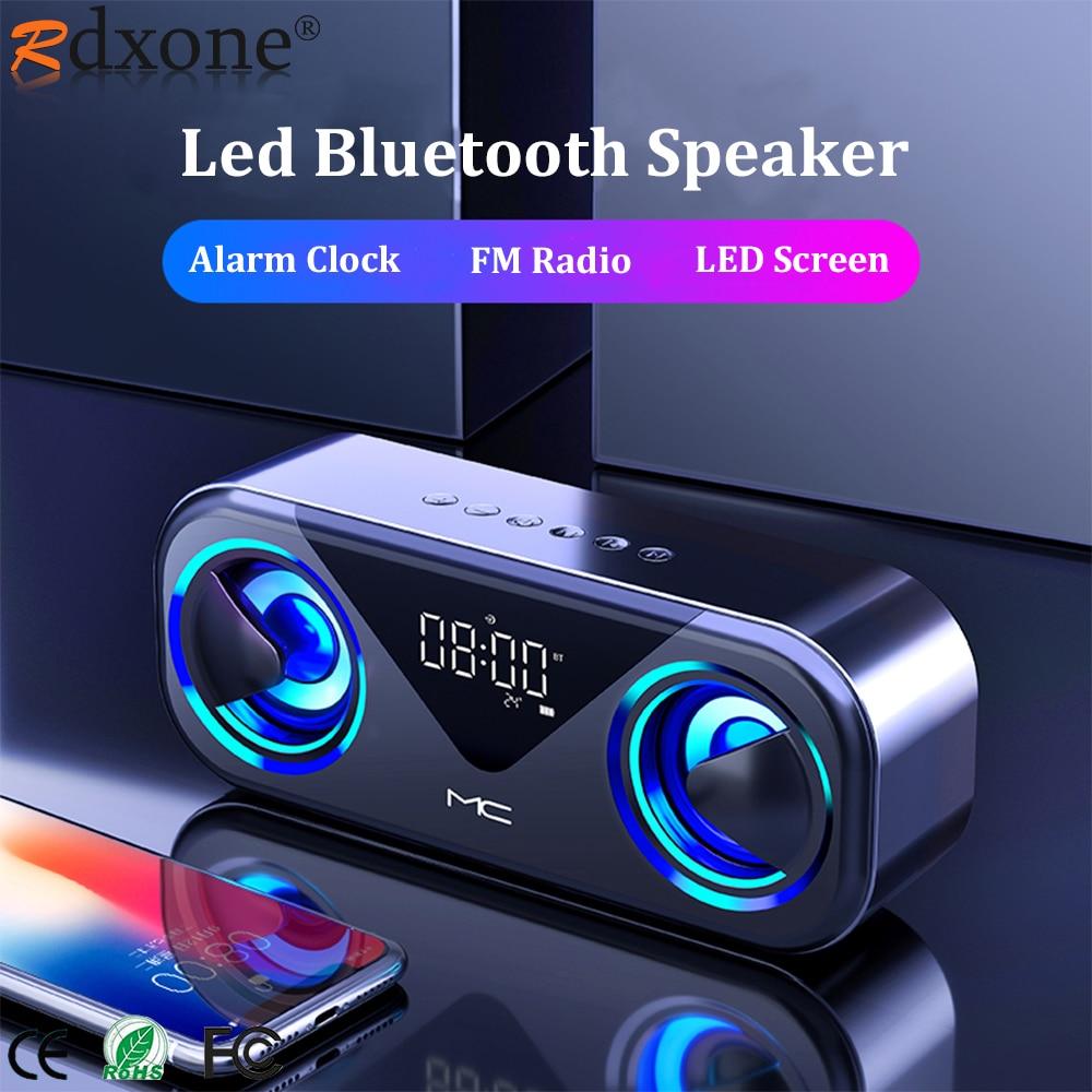 Altavoces con Bluetooth y luz LED para cine en casa, alarma De...