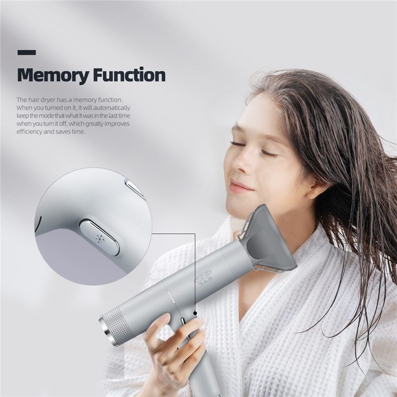 3 In 1 Professional Negative ions Blow Dryer Powerful Wind Hot/Cold Hair Dryer Hair Salon Hairdressing with Memory Function 50 enlarge