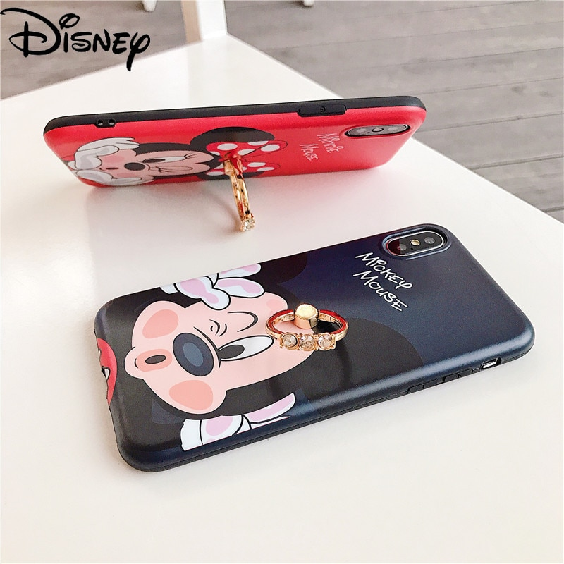 Disney Cartoon Mickey Minnie for IPhone7Plus Phone Case for IPhone12/11/XR/xs/11/8/12mini Phone Cover Mobile phone accessories  - buy with discount