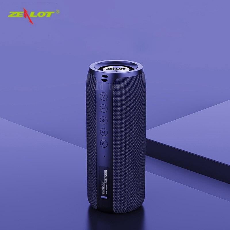 ZEALOT S32 قوي سمّاعات بلوتوث باس لاسلكي مضخم صوت محمول مقاوم للماء صندوق الصوت دعم TF ، TWS ، محرك فلاش USB