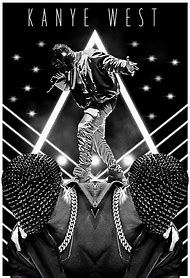 Kanye West Rap Hip HSILK cartel de pared decorativo pintura 24x36inch