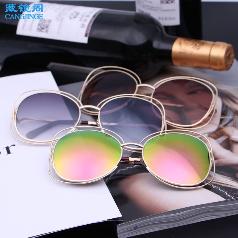 Солнцезащитные очки в металлической круглой оправе модные полимерные солнцезащитные очки поляризационные Модные женские очки с защитой о...