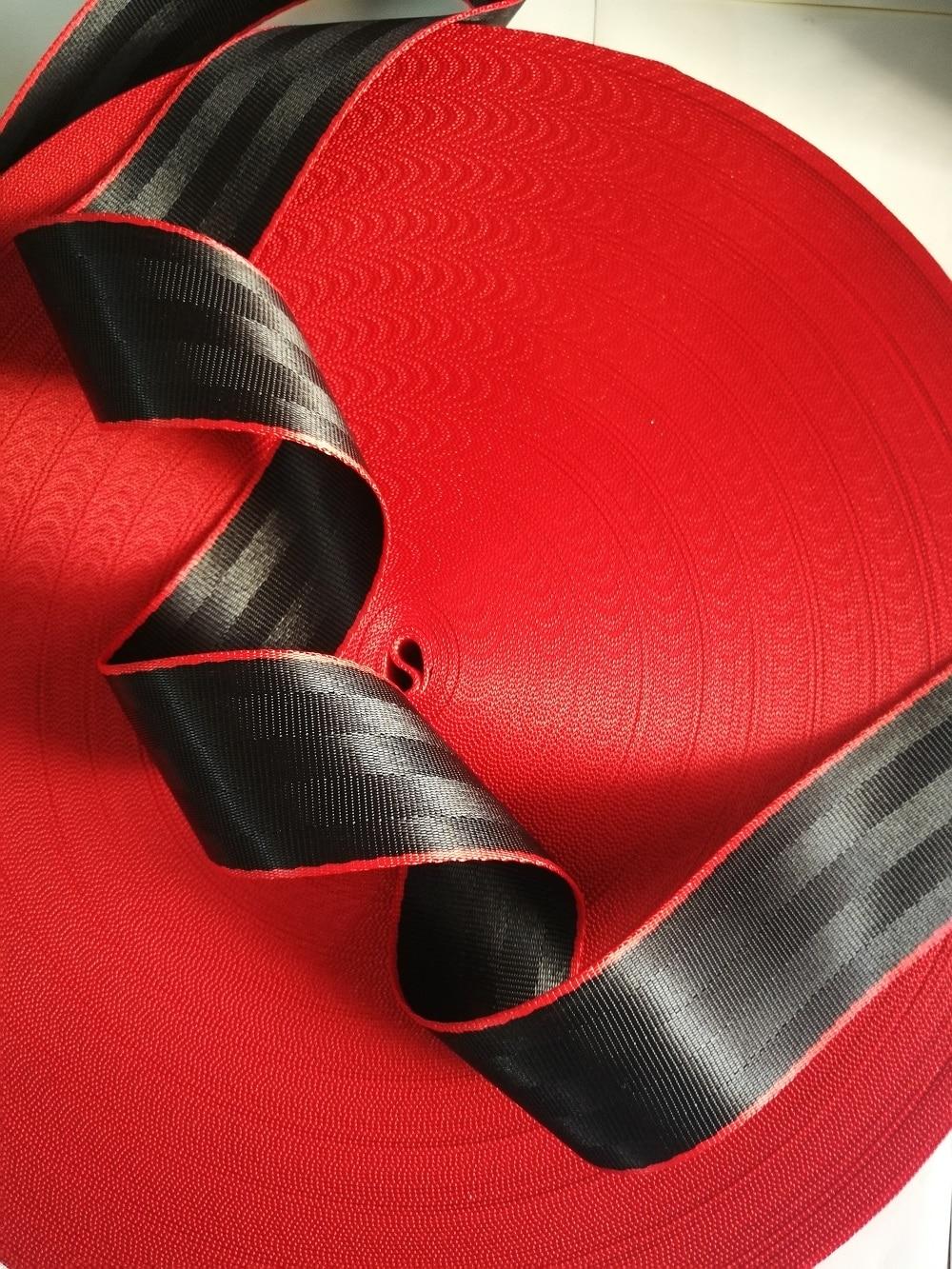 Black-Red 3M-36M Car Seat Belt Webbing Universal Car Personalized Modification Seat Belt Webbing Car Accessories