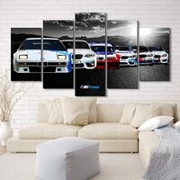 no framed canvas 5pcs racing gtr gt4 sports car modular wall art posters pictures paintings living room home decor decoration