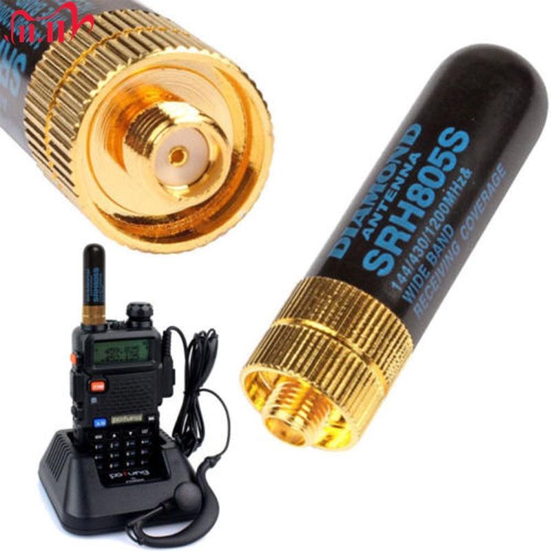 1 قطعة هوائي ثنائي النطاق UHF + VHF SRH805S SMA أنثى هوائي ل TK3107 2107 ل Baofeng UV-5R 888S UV-82 جهاز لاسلكي