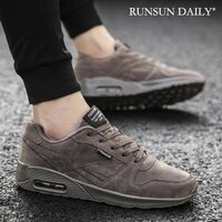 mens casual shoes fashion leather air cushion walking athletic sneakers walking shoes for men