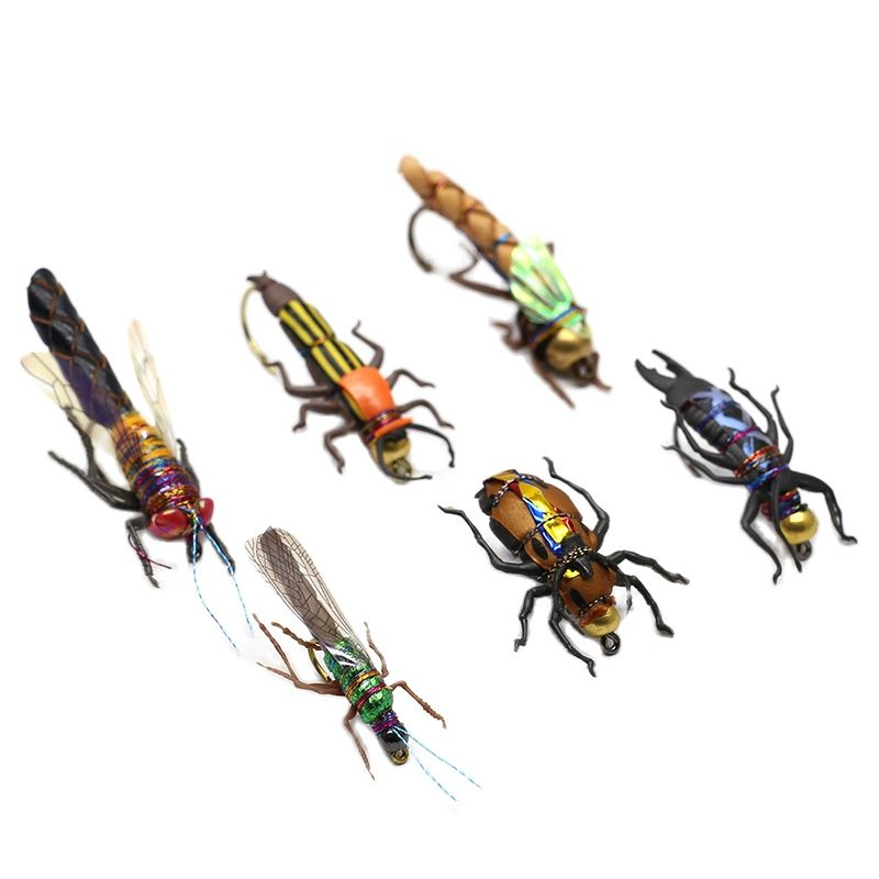 smalley fishing flies Realistic Fly Fishing Flies Set 16/18pcs  Dry Wet Flies Insect Lure for Bass Fishing Assortment Flyfishing Trout Lure kit