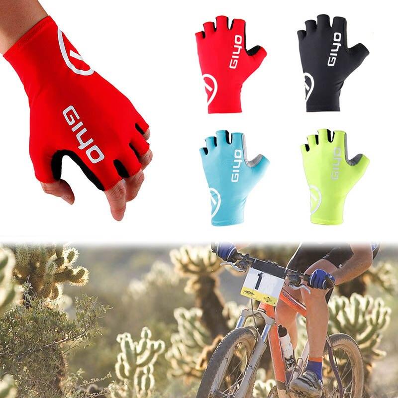 GIYO-Guantes de Ciclismo transpirables de medio dedo, mitones de conducción antideslizantes a...