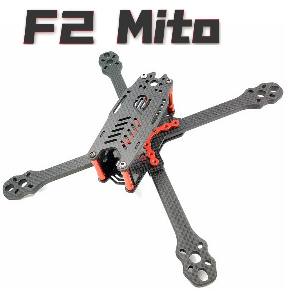 F2 Mito 220 6mm ARM Carbon Fiber frame kit RC Drone FPV Racing Quadcopter Freestyle True X UAV F3 F4 Flight Tower 5045