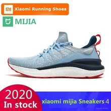 Original Xiaomi Mijia Sneakers 4 Men's Outdoor Sports Uni-moulding 4D Fishbone Lock System Knitting