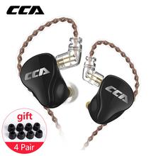 CCA CA16 1DD + 7BA hybrydowe sterowniki monitorowanie HIFI słuchawki douszne słuchawki z 2PIN 0.75 3.5MM złącze CCA C12 C16 ZSX