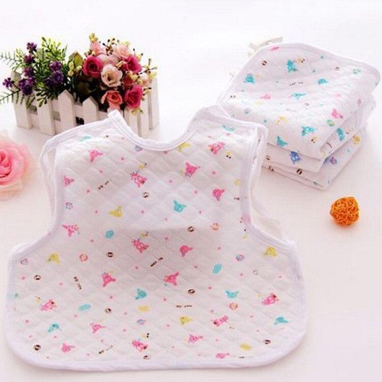 10 fotos Algodón puro Pinny babero impermeable para niños recién nacidos Baberos-impresión Logo bebé encaje-up babero