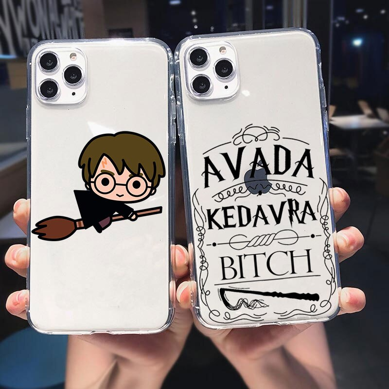Fashion Harries Potter Soft silicone Back Cover Case Coque Case For iPhone 12 11 Max 6 7 8 Plus X XR