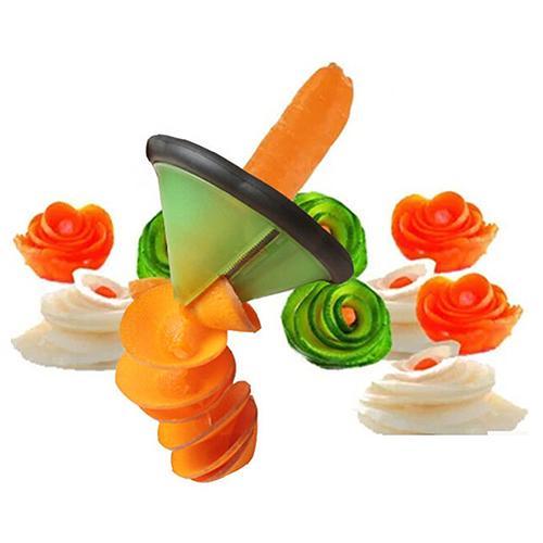 Pelador de sacapuntas de frutas vegetales multiuso zanahoria pepino espiral cortador de cocina Gadget Accesorios