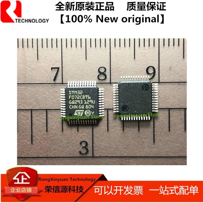 5 unids/lote STM32F072CBT6 LQFP48 STM32F072 brazo®-MCU de 32 bits, hasta 128 KB de Flash, USBFS sin cristal 2. 100% nuevo original