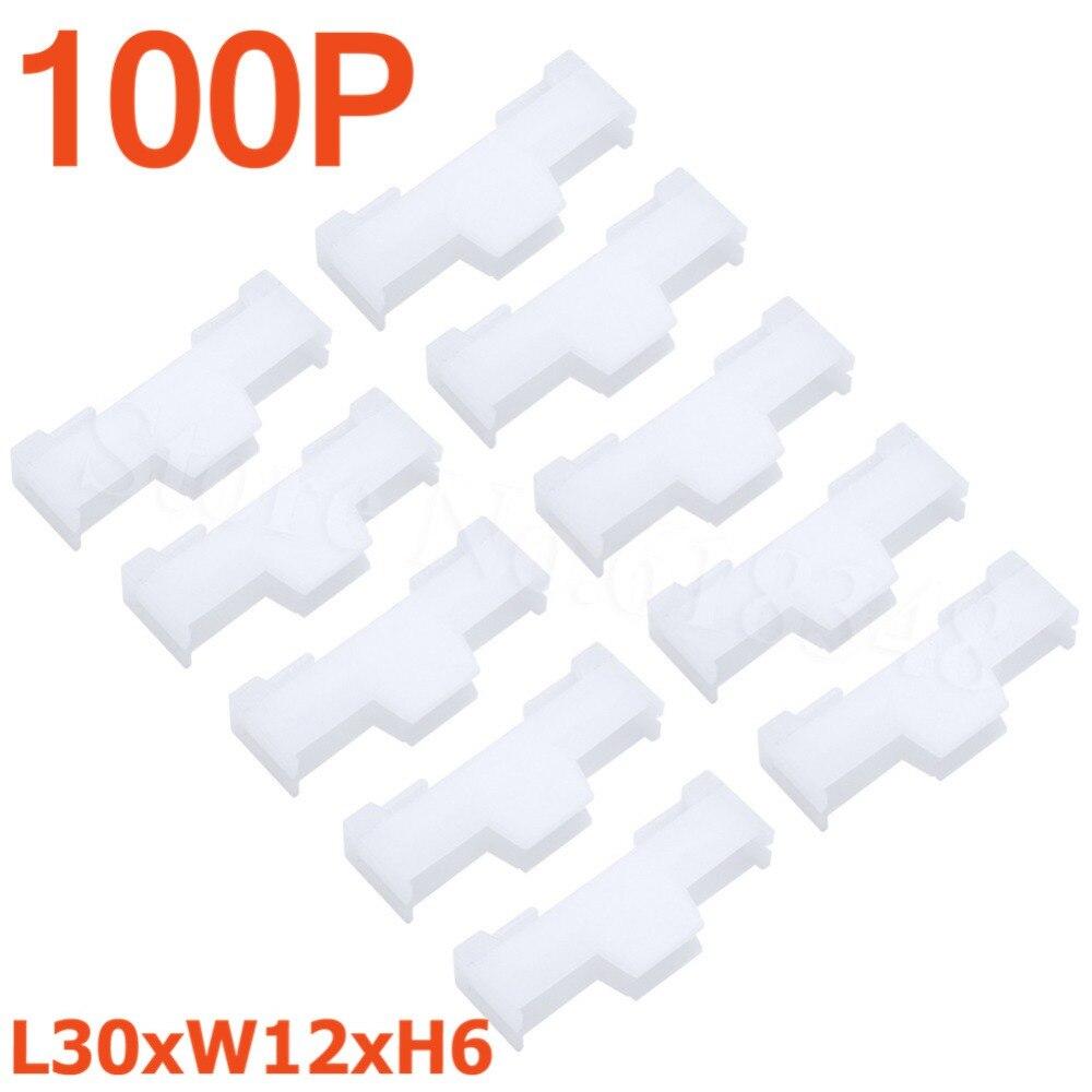 100 Uds Nylon Servo extensión cerradura L30xW12xH6mm piezas de control remoto