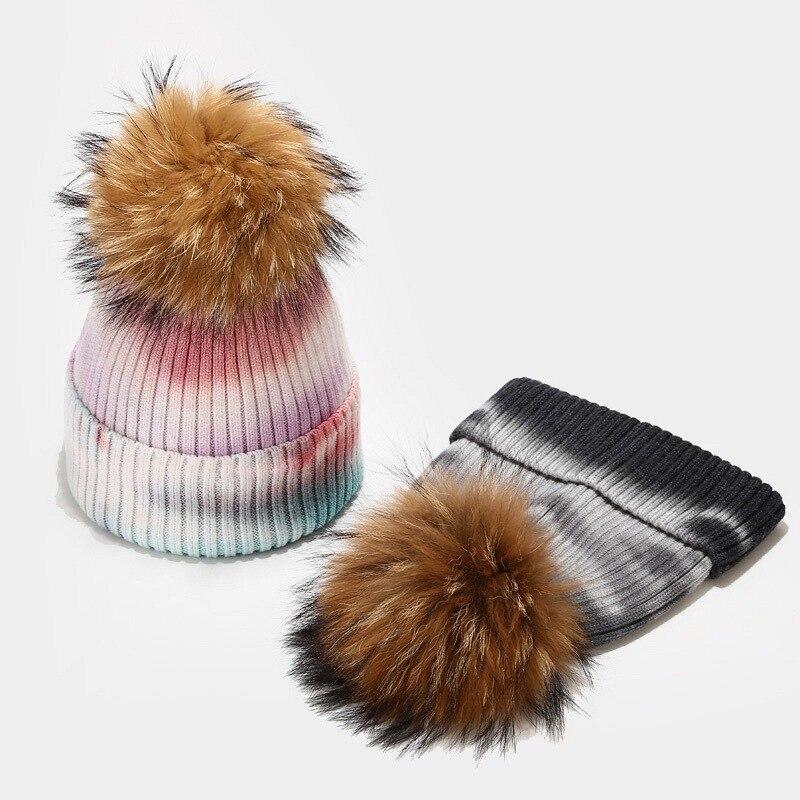 Брендовые зимние вязаные облегающие шапки, женские толстые теплые облегающие шапки, шапка, женская вязаная уличная шапка с граффити, шапки ...