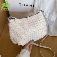 weave bags square crossbody bag 2020 new high quality pu leather womens designer handbag travel shoulder messenger bag