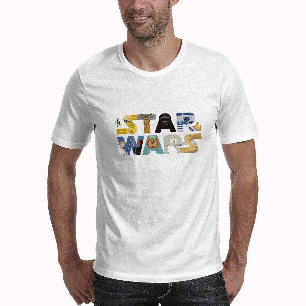 Hombres Mujeres Plus Casual blanco marca ropa Star War Streetwear camiseta de moda Camisetas con estampado de letra Camisetas