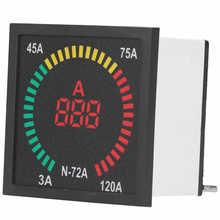 Digital Current Meter N‑ 72A AC Strom Signal Anzeige Licht LED Digital Strom Tester Meter 3 ‑ 120A AC220V Digital amperemeter