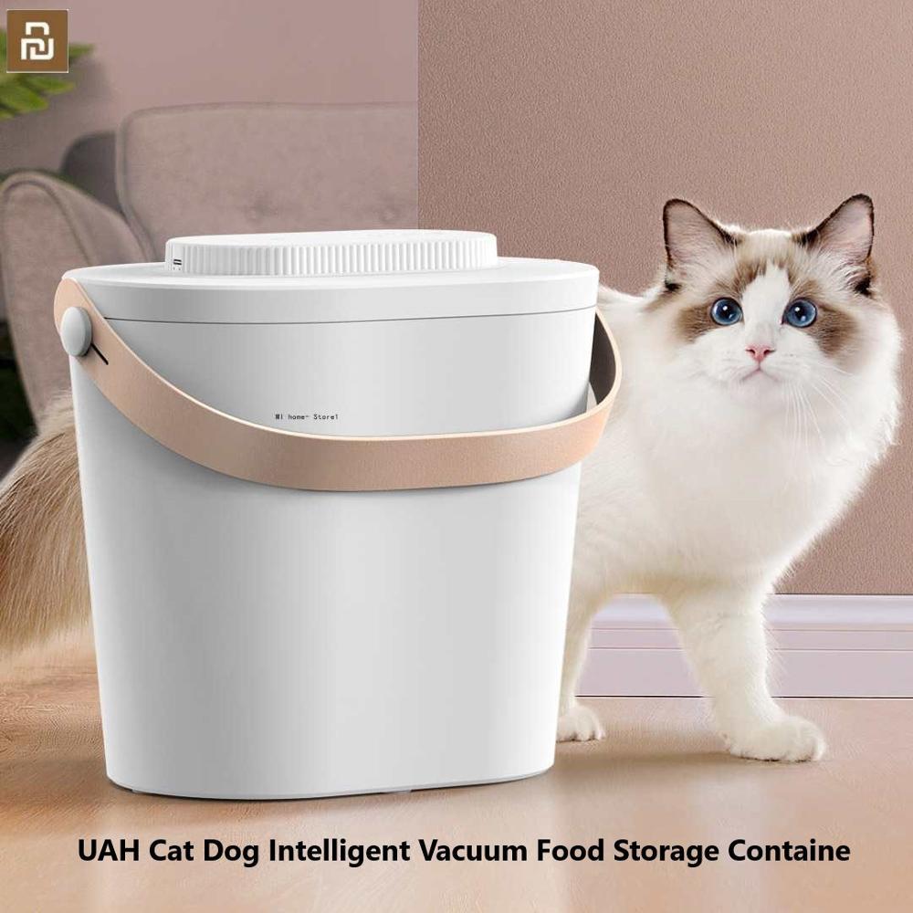 حاوية تخزين طعام Mijia UAH, علبة تخزين طعام الحيوانات الأليفة الذكية المختومة ، مقاومة للماء ، متعددة الوظائف