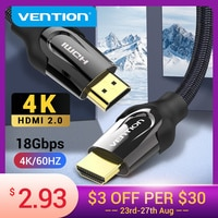 HDMI-кабель Vention, 4K/60 Гц, разветвитель HDMI 2,0 для Mi Box HDTV HDMI 2,0, аудиокабель, переключатель, адаптер для Xiaomi PS4, кабель HDMI