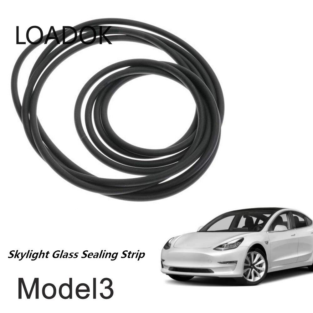 Автомобильные аксессуары, комплект уплотнений для снижения шума на ветровом стекле и крыше, уплотнительная лента для стекла Tesla Model 3