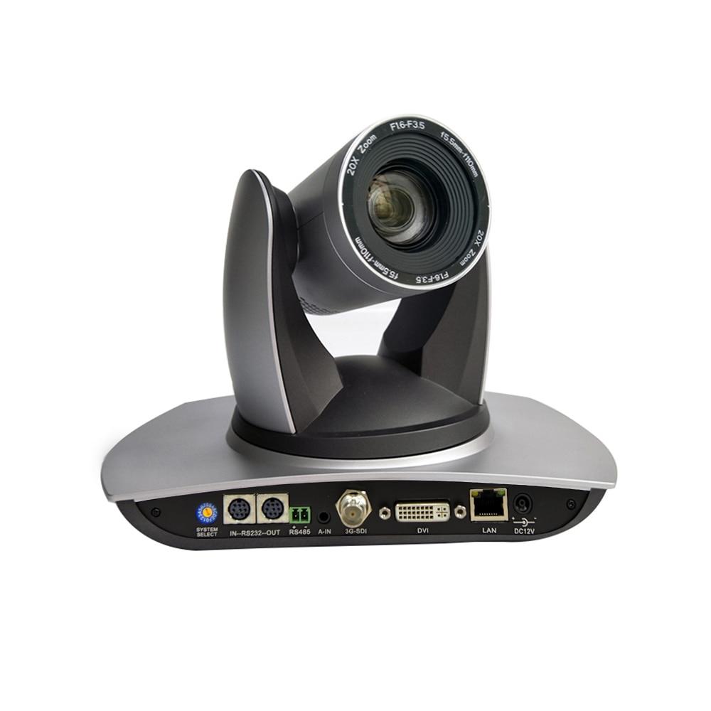 كاميرا مؤتمرات فيديو PTZ 20X 1080p 60fps ، 3G-SDI DVI IP ، Onvif RTSP RMTP VISCA PELCO