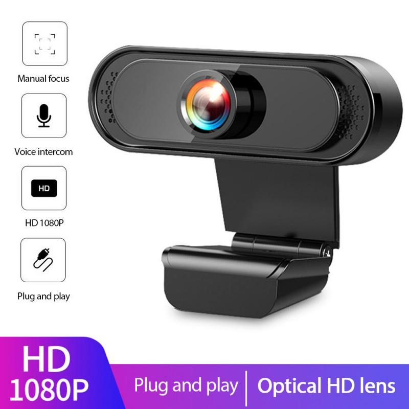 1080p completa hd webcam câmera com microfone usb 2.0 câmeras web transmissão ao vivo vídeo chamada conferência para computador portátil computador