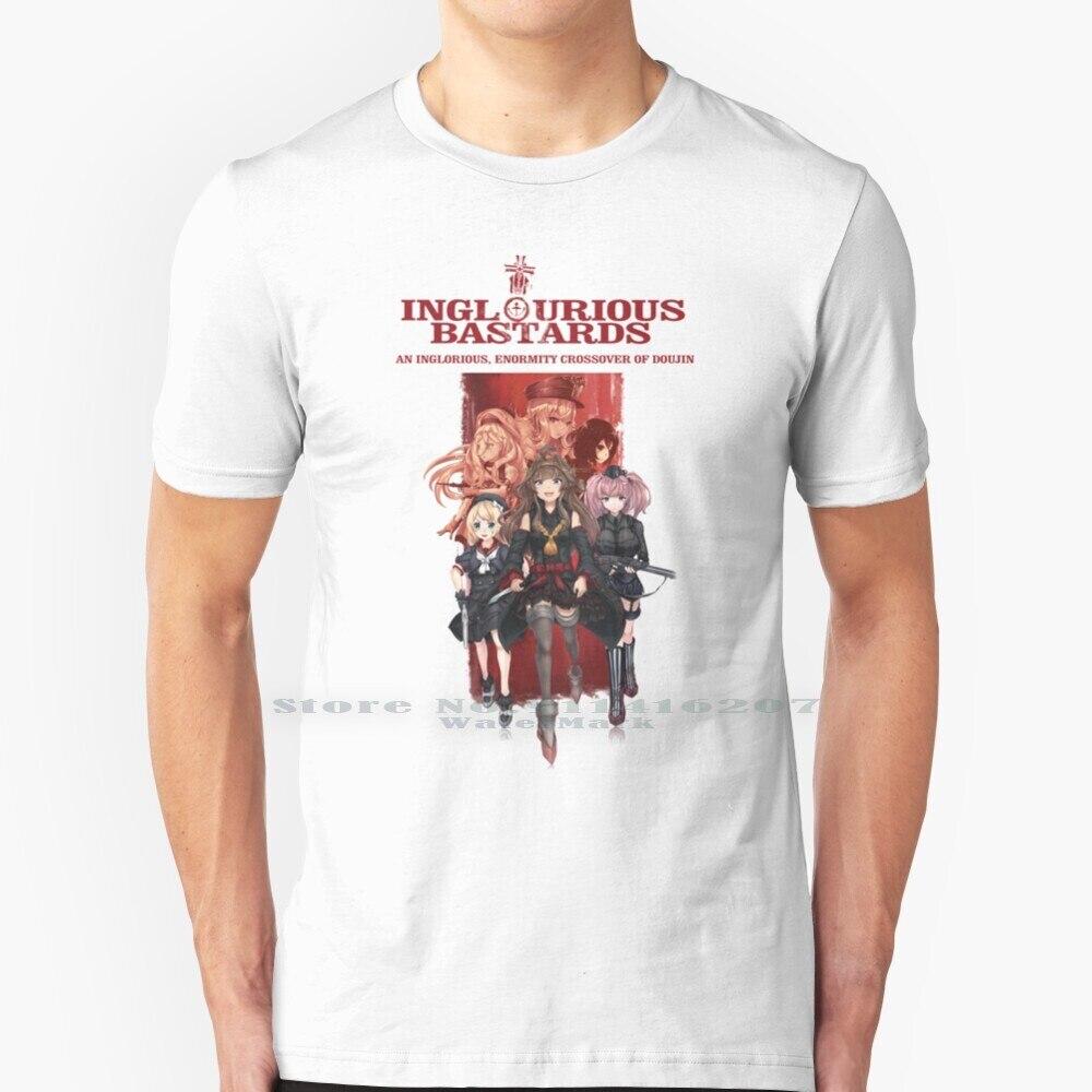 Inglourious-Camiseta de algodón puro para 100%, camisa de Manga Kantai con estampado...