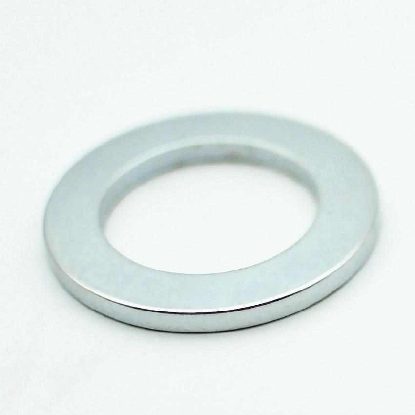 Imán NdFeB anillo grande OD 49,5x32x4mm 1,95 imán de neodimio fuerte permanente de tierras raras NiCuNi plateado N42 para Motor 5-200 Uds