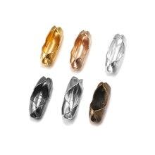 200 teile/los 1.5/2.0/2.4/3,2mm Ball Kette Connectors Verschlüsse Gold Für DIY Armband Halskette Perle kette Schmuck Machen