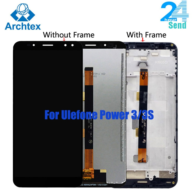 """Para Ulefone Power Original 3 pantalla LCD + MONTAJE DE digitalizador con pantalla táctil piezas de repuesto 2160*1080P para Ulefone Power 3S 6,0"""""""