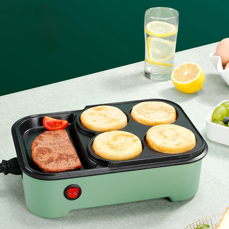 Бытовая электрическая машина для приготовления гамбургеров, яиц, омлета, плита, блинчиков, жареных сковорода для стейка, искусственная маши...