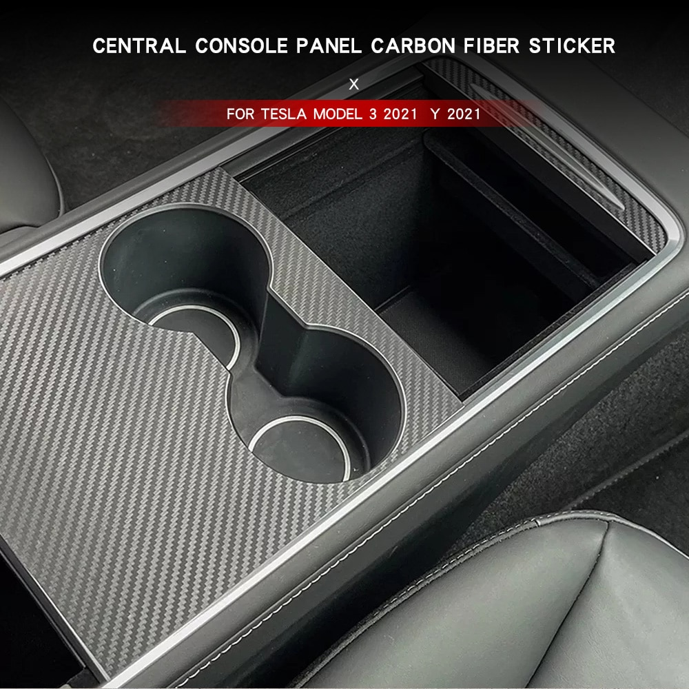 Автомобильная Центральная панель управления, защитная наклейка из углеродного волокна для Tesla Model 3 2021, автомобильные аксессуары для Y