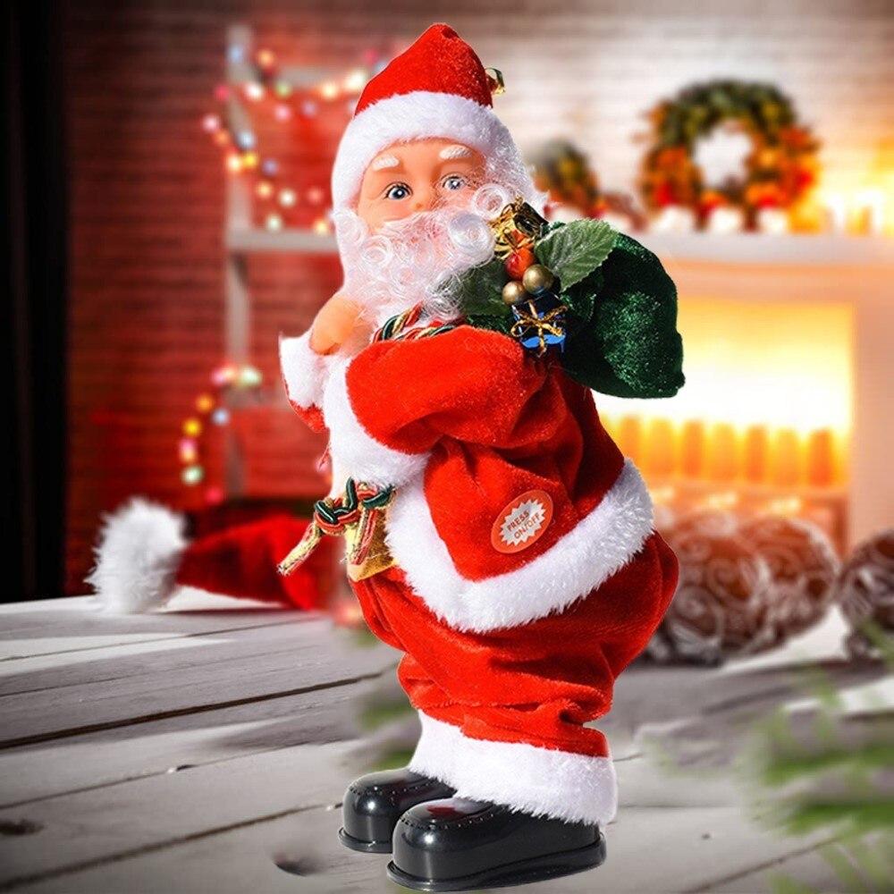 Christmas Electric Santa Claus Twerking Musical Christmas Toys Singing Dancing Xmas Figure Dolls Kid