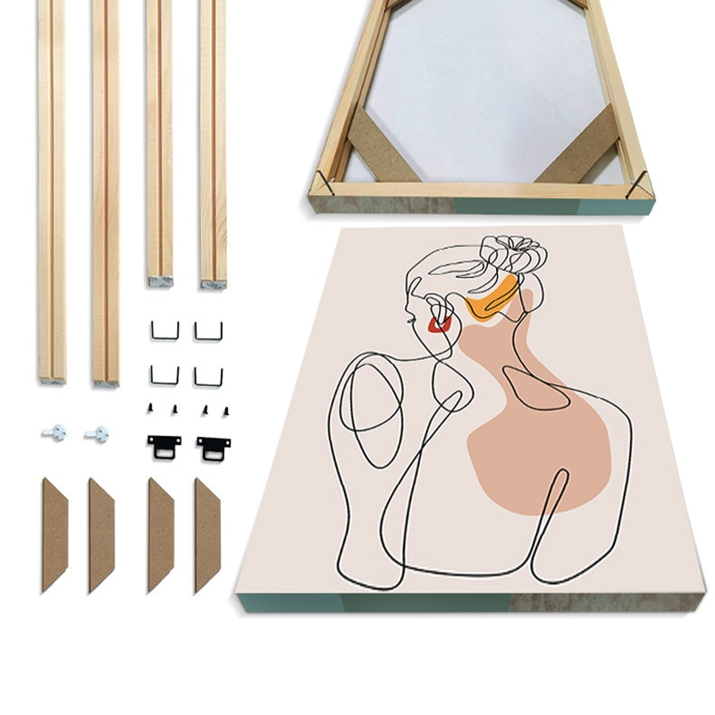 Simple Solid Wood Photo Frame, Camphor Wood DYI Frame Factory Direct Sales, for Hand Painting, Diamond Painting, Canvas Posters