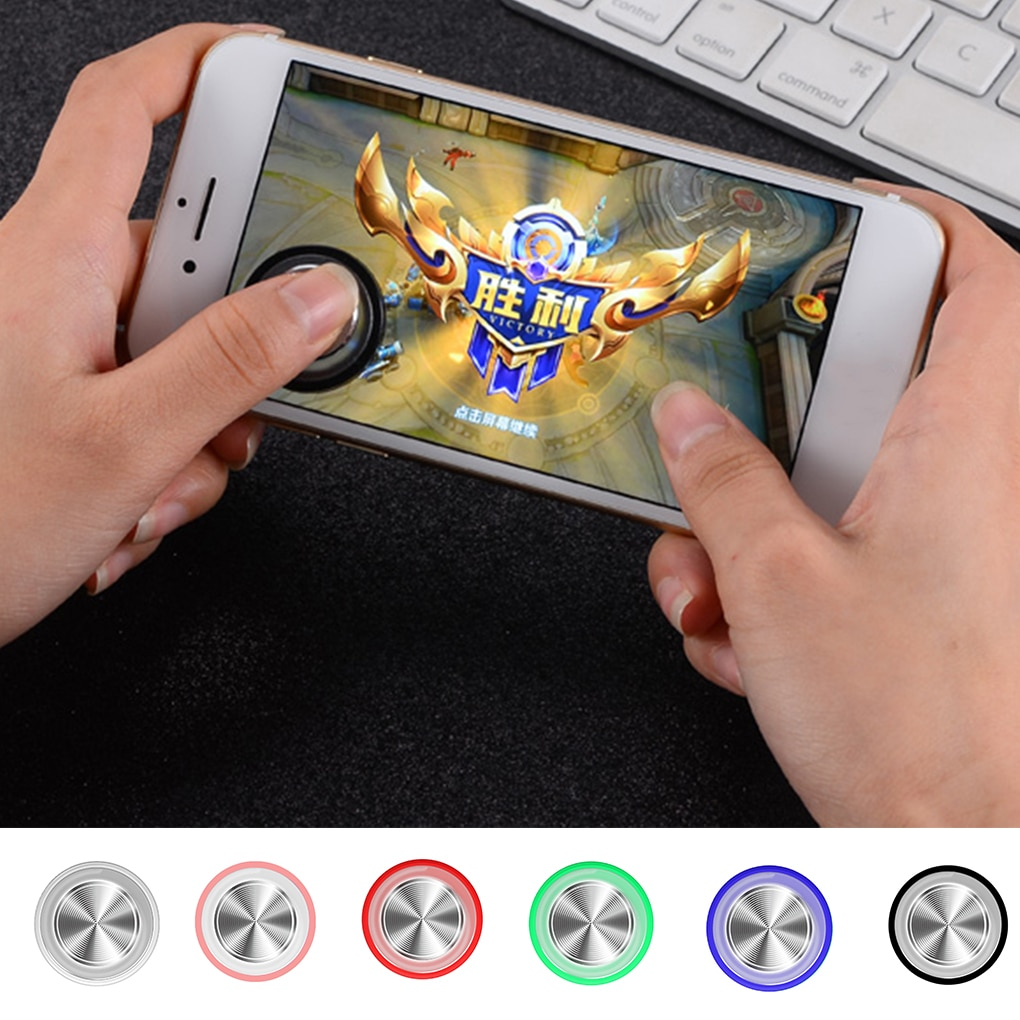 Round Game Joystick Mobile Phone Rocker Metal Button Controller Controller For PUBG Controller With Suction Cup general mobile games joystick touch screen rocker controller