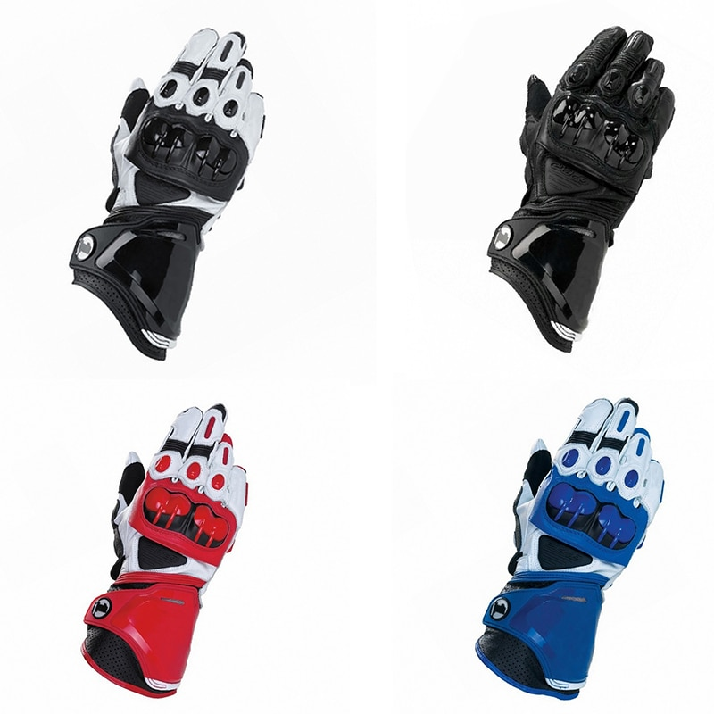 2020 New Hard shell Leather Racing Gloves GP PRO Motorcycle Long Driving Motorbike Original Cowhide