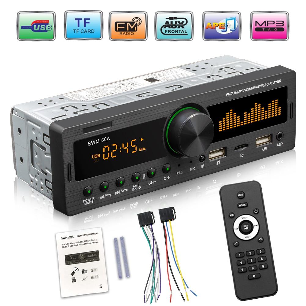 AliExpress - VODOOL 1 DIN Car Radio Dual Screen Bluetooth Multimedia MP3 Player AUX/USB/FM stereo Audio Player Car Electric Audio Copy