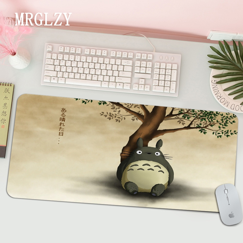 Скоростная игровая мышь Kawaii Anime Totoro и Friends, розничная продажа, маленький резиновый коврик для мыши, Прямая поставка, игровой коврик для мыши, ...