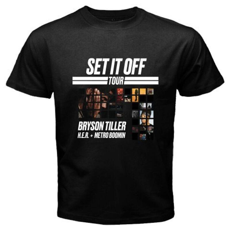Новая мужская черная футболка Bryson Tiller, музыкальный тур, размер S-3XL