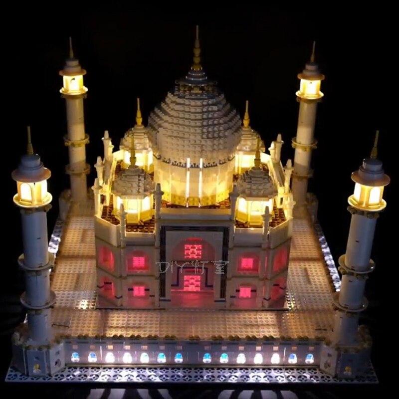 Kit de luz led compatível para 10256 o taj mahal (apenas luz led, nenhum jogo de bloco)
