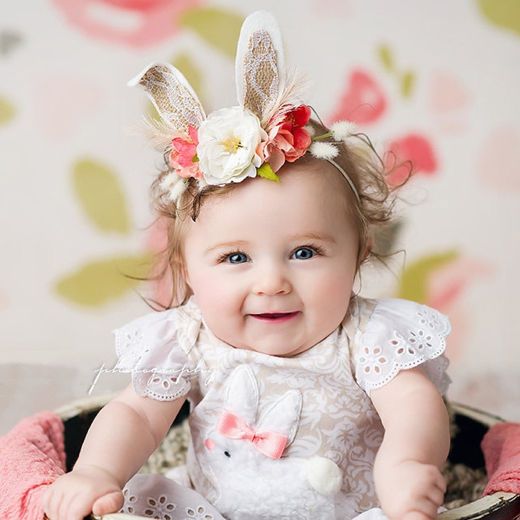 Balleenshiny bebê fofo coelho orelhas cabeça banda elástica hairband bonito dos desenhos animados rosa headwear criança crianças acessórios foto adereços